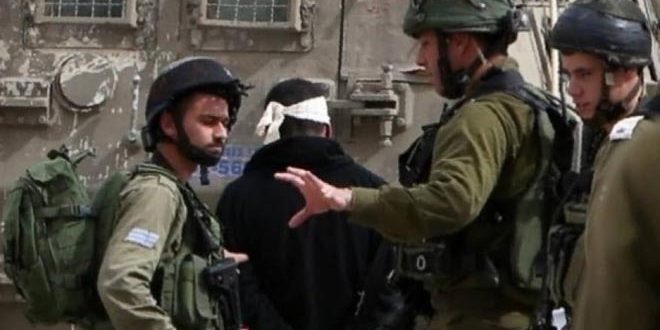 Israeli occupation forces arrest 10 Palestinians in the West Bank