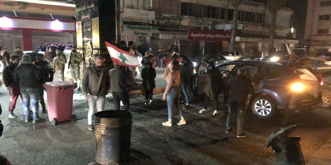 Protests continue in a number of Lebanese regions against deterioration of living conditions