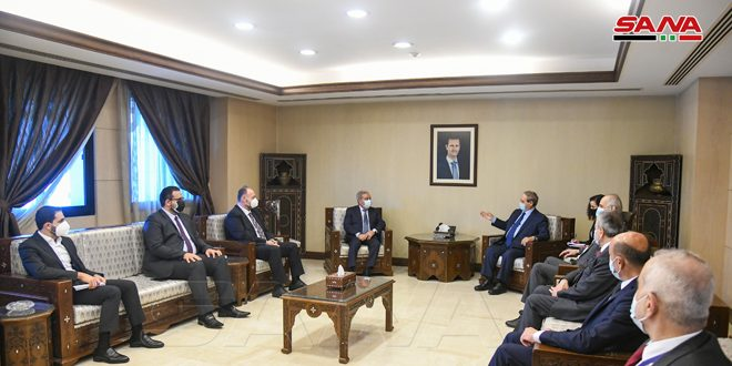 Mikdad, Mashrafieh discuss means of enhancing cooperation on the return of Syrian refugees