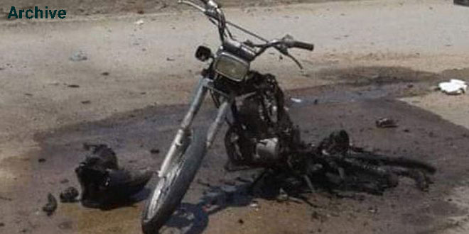 Several terrorists killed and injured in motorcycle bomb blast in Ras al- Ayn countryside