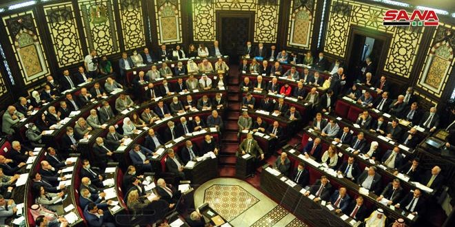 MPs underline rejection to all forms of external interference in Syria's domestic affairs, especially presidential elections