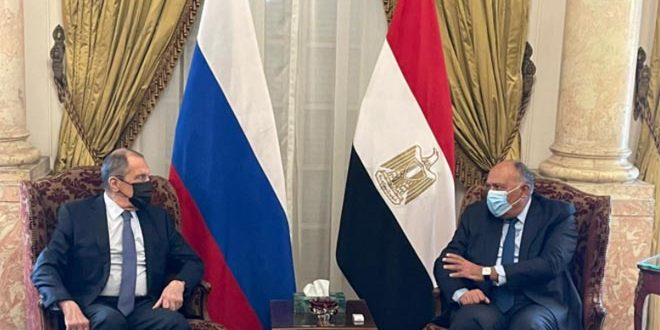 Lavrov, Shoukry stresses political track is only solution to  crisis in Syria