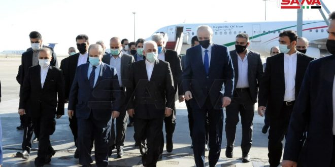 Zarif arrives in Damascus to discuss bilateral relations, latest regional developments