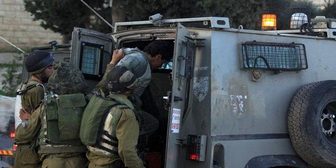 Israeli occupation forces arrest six Palestinians east of Nablus