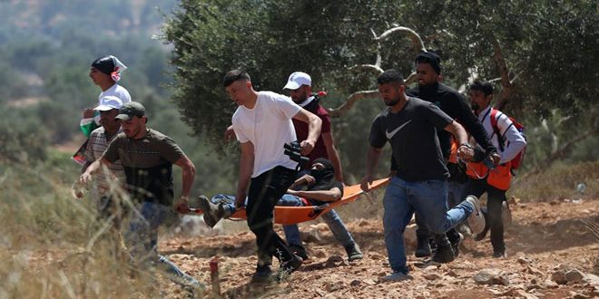 A Palestinian martyred by Israeli occupation fire, south of Nablus