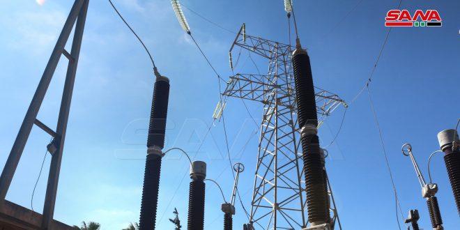 High-voltage transmission line of al-Sheikh Maskeen –al-Koum put back into service after six year of hiatus due to terrorism