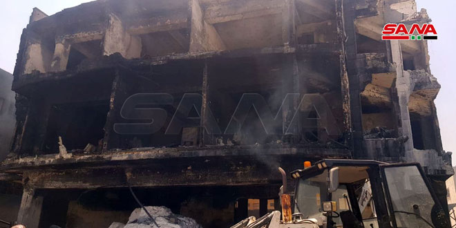 A fire that erupted at Sheikh Najjar Industrial City in Aleppo extinguished completely
