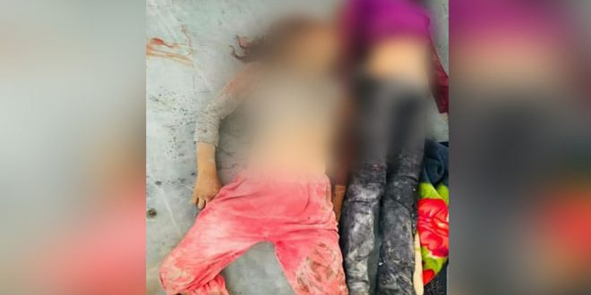 A family of 4 persons martyred in an attack by Turkish occupation forces on a village in Raqqa countryside