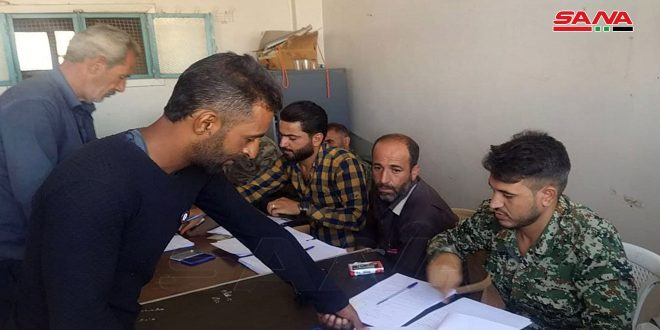 Legal status of militants, wanted persons settled in Tafas, Daraa countryside