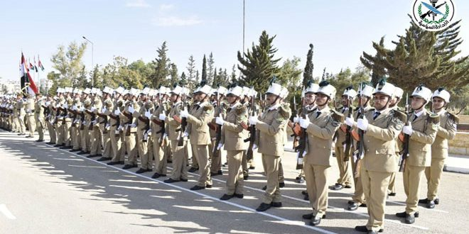 A new batch of students of al-Assad Academy for Military Engineering graduated