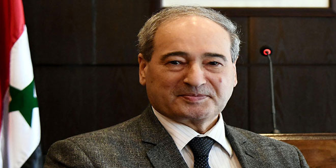 Mikdad: Coercive measures on Syria must be lifted…Turkey should end occupation of Syrian lands