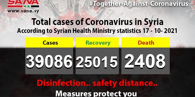 381 new coronavirus infections, 17 deaths recorded in Syria