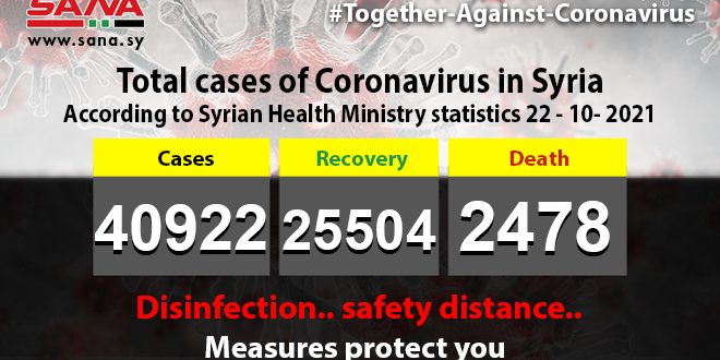 292 new coronavirus infections, 11 deaths recorded in Syria