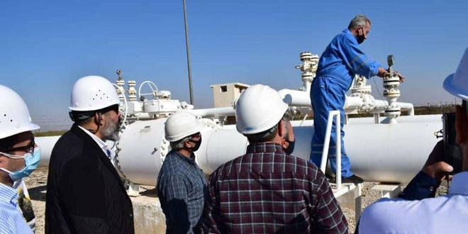 Syrian-Lebanese-Egyptian tour on two stations within Arab Gas Pipeline project