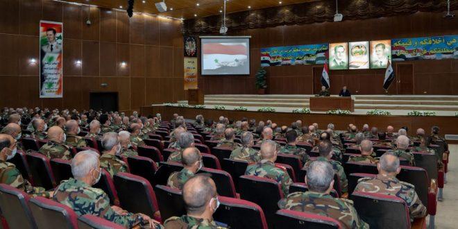 President al-Assad: Armed forces make the history of Homeland
