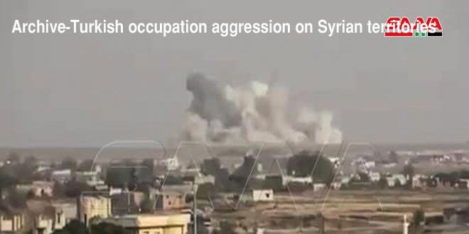Turkish occupation renews aggression on Tal Tamr, Hasaka countryside