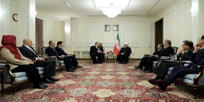 Rouhani: Irán continuará respaldando a Siria hasta lograr la victoria sobre el terrorismo