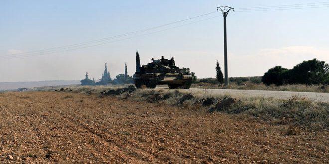 SANA entra en  las localidades de al Hajeb y Tal al Saumaha en el campo de Alepo después de su liberación del terrorismo