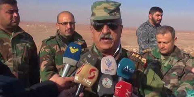 Ejército establece control sobre 400 kilómetros cuadrados en el campo sureste de Alepo