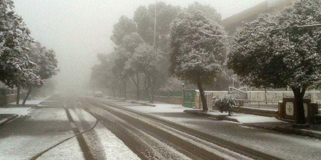 Nieve en Swaida, Queintra y Yabroud