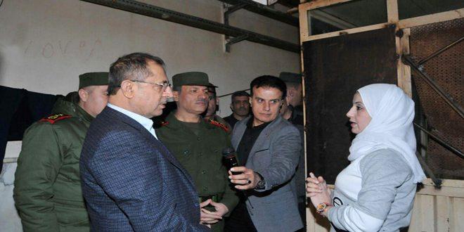 Ministro del Interior visita a las cárceles de Homs y Tartous