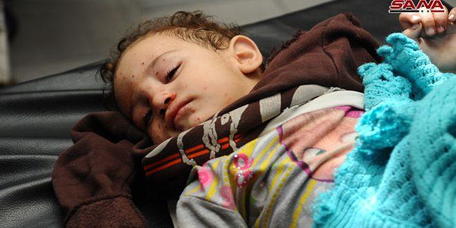 Víctimas de los ataques terroristas con mortero contra Damasco