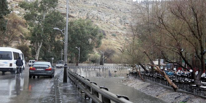 Fuertes lluvias en Damasco