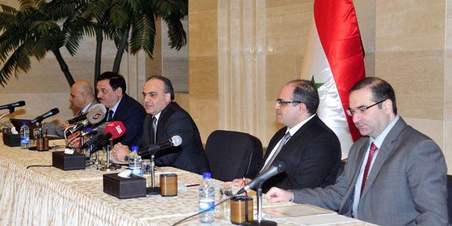 Una reunión de trabajo para determinar las bases de la participación siria en el Foro Económico sirio-ruso en Moscú