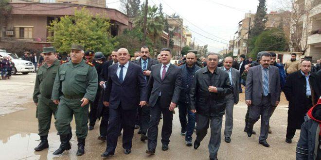 Por orientaciones del Presidente AL-Assad…Delegación gubernamental y otra de la Dirección Regional visitan la provincia de Hasakeh