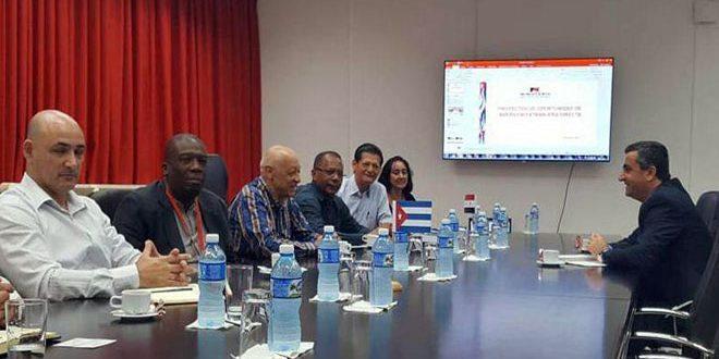 El ministro de la industria Cuban: Siria ganar contra los terrorismos y sus apoyados