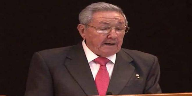 Castro condena agresión tripartita contra Siria