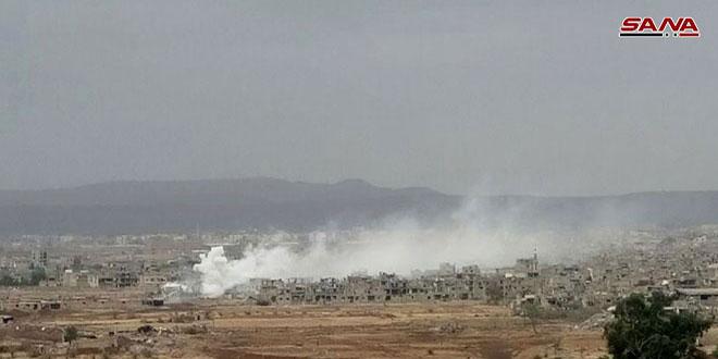 Ejército avanza en su ofensiva contra los terroristas en el sur de Damasco