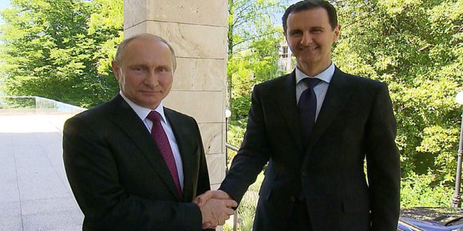 El presidente Putin recibe al presidente al Assad en la ciudad de Sochi