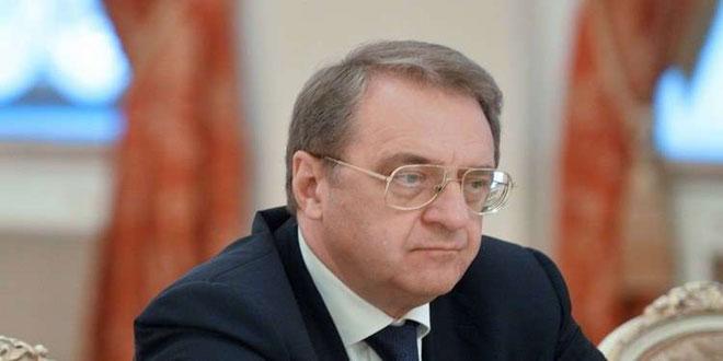 Bogdanov: Siria es un estado soberano y es la que elige a quien le ayuda en su lucha contra el terrorismo