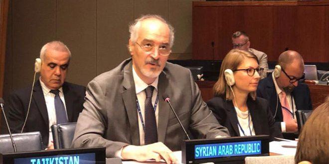 Jaafari denuncia implicación de ciertos países en la compra y el envío de armas a los terroristas en Siria