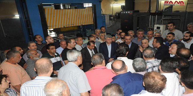 Delegación gubernamental visita zonas industriales en Damasco-Campo