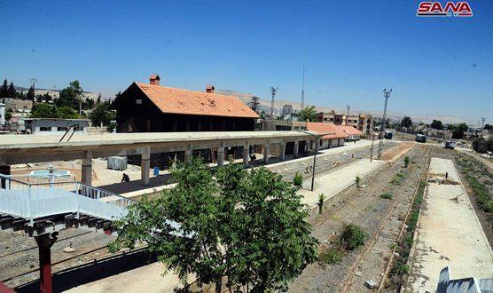 Ya están listas la estación ferroviaria de al Qadam y de Expo-Damasco al servicio de los visitantes de la feria