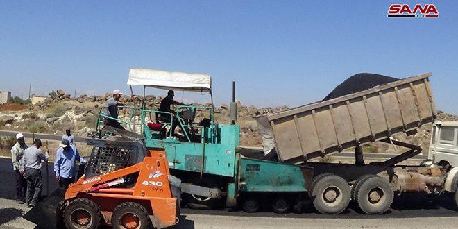 Rehabilitación directa y mantenimiento de la carretera de Damasco Daraa