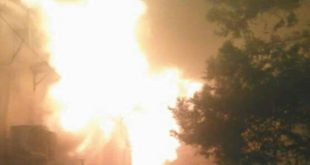 Pérdidas materiales en un incendio en el Centro Cultural en Qamishli