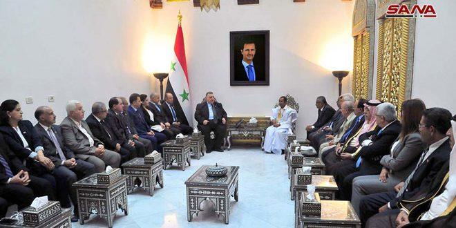 Presidente del Parlamento recibe una delegación de un partido mauritano