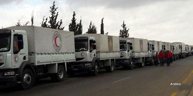 MLRAS entrega ayuda humanitaria a siete localidades del campo sureste de Deraa