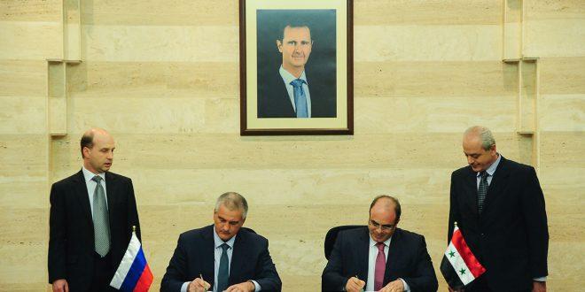 Siria y Crimea firman memorándum de cooperación en materia comercial y económica