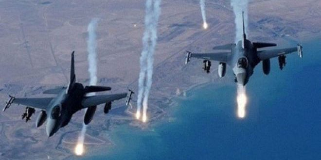 Bombardeo aéreo de la Coalición Internacional mata a seis armados de la milicia FDS