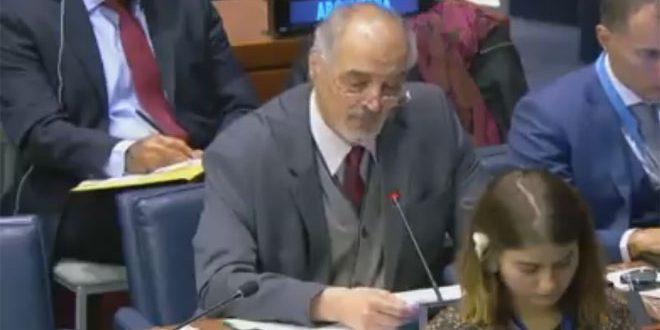 Jaafari en su declaración ante el Comité de Desarme y Seguridad Internacional