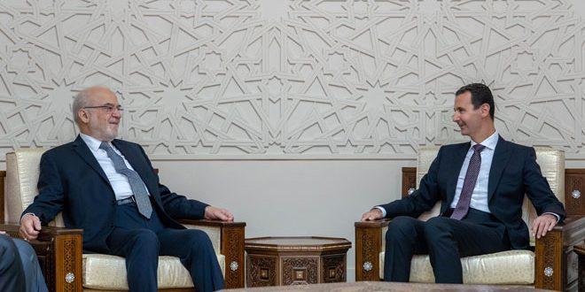 Presidente Al-Assad destaca importancia de consolidar históricas relaciones entre Siria e Irak