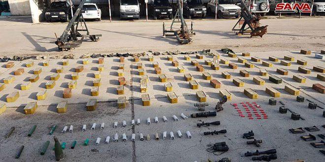 Ejército confisca armas abandonadas por los terroristas en el campo norte de Homs