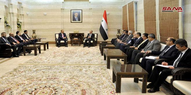 Primer Ministro se reúne con una delegación parlamentaria de Jordania
