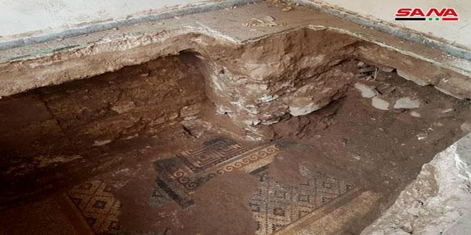 Hallan mosaico de la época romana en el norte de Homs