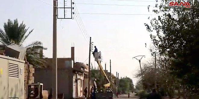 El retorno de la electricidad a la ciudad de Al-Mayadin tras 4 años de ausencia