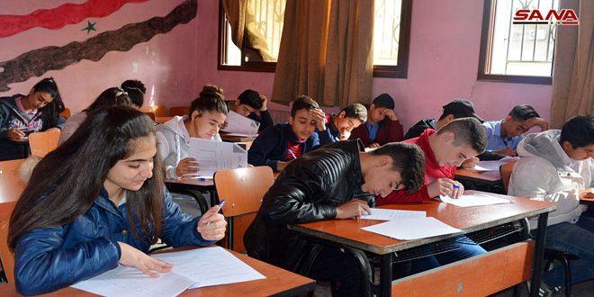La segunda fase de la Olimpiada Científica Siria empieza con más de 25 mil estudiantes